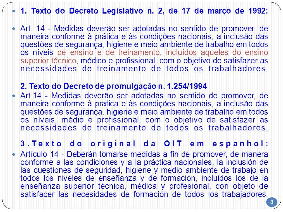 1. Texto do Decreto Legislativo n. 2, de 17 de março de 1992: