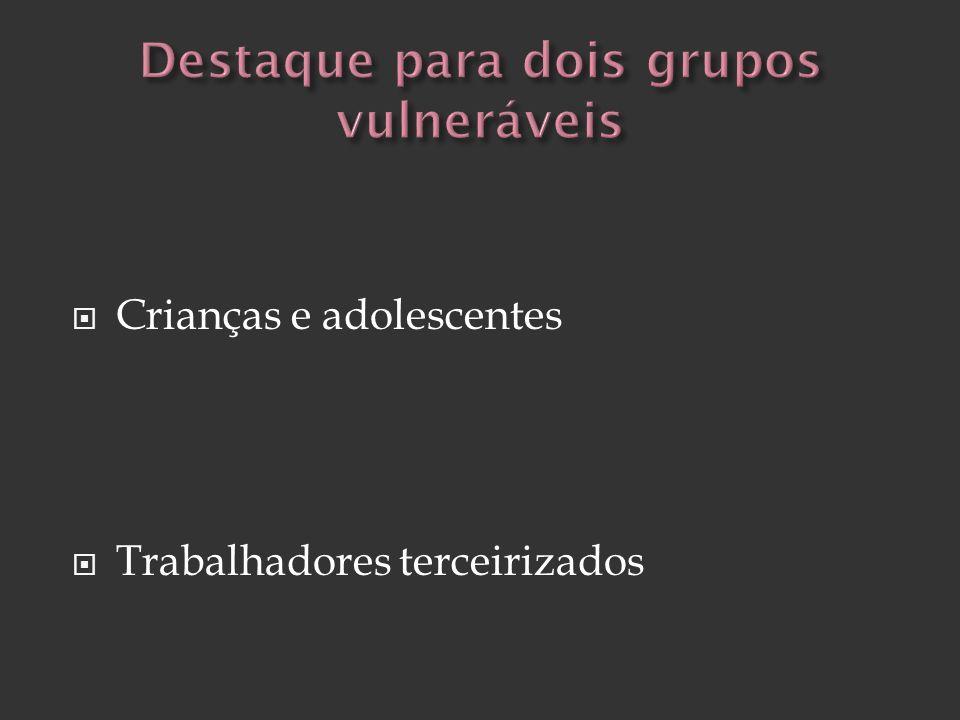 Destaque para dois grupos vulneráveis