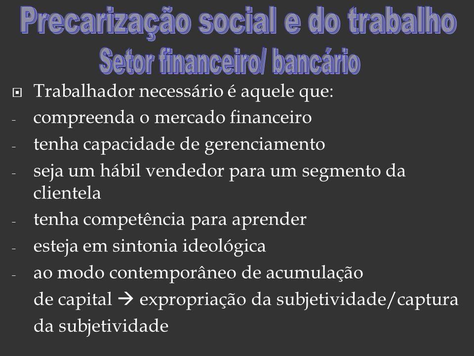 Precarização social e do trabalho