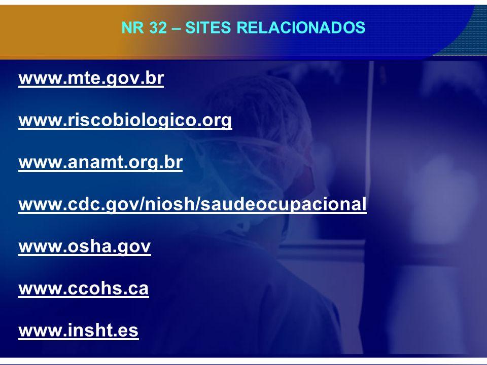 NR 32 – SITES RELACIONADOS