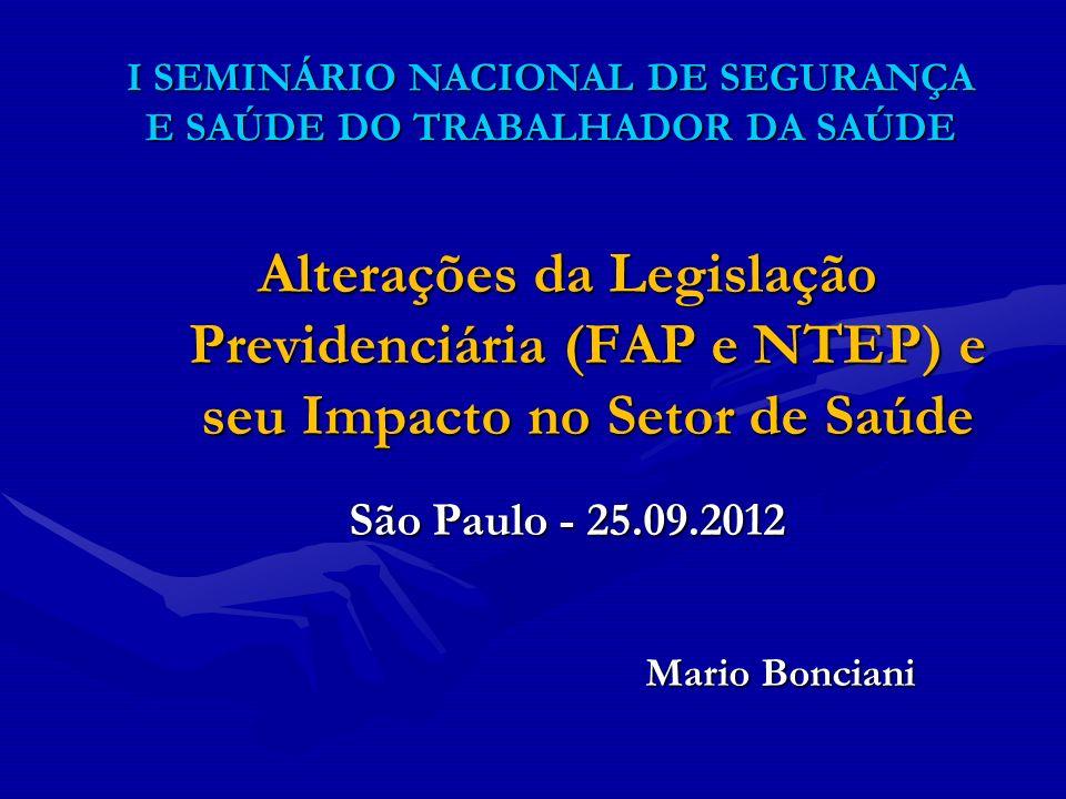 I SEMINÁRIO NACIONAL DE SEGURANÇA E SAÚDE DO TRABALHADOR DA SAÚDE
