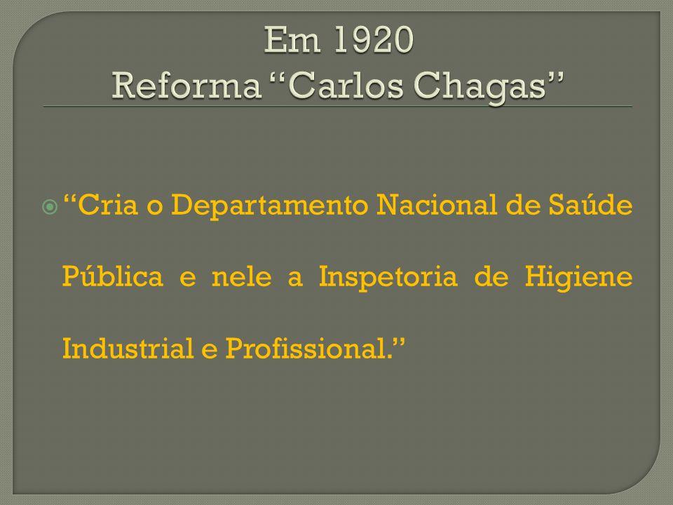 Em 1920 Reforma Carlos Chagas