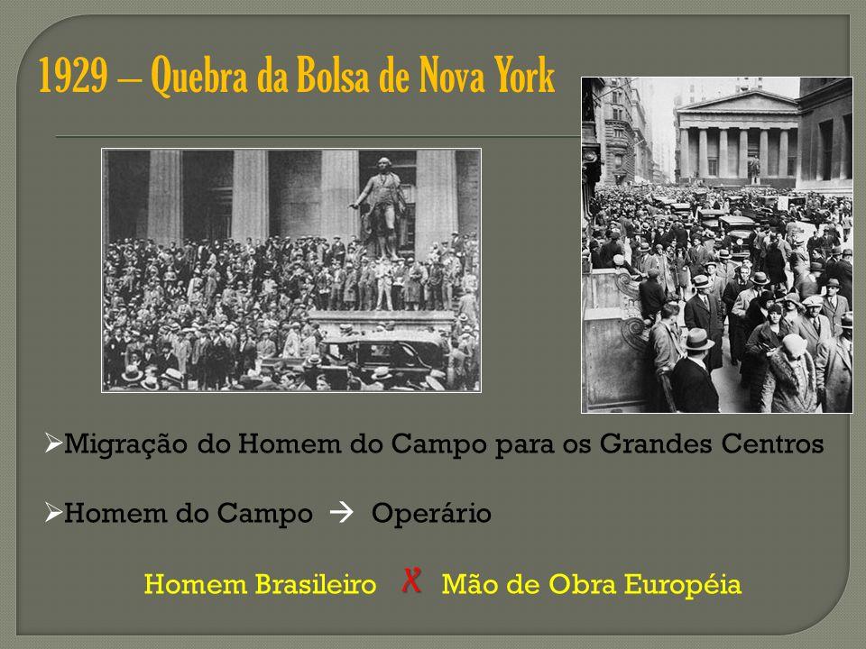 1929 – Quebra da Bolsa de Nova York