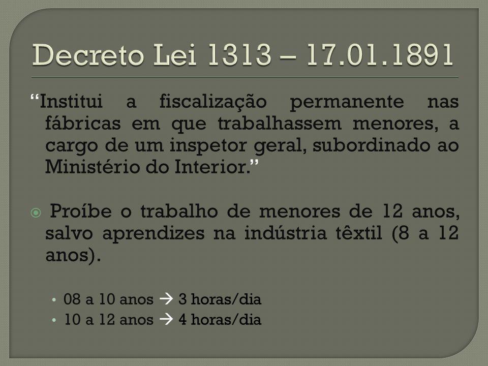 Decreto Lei 1313 – 17.01.1891
