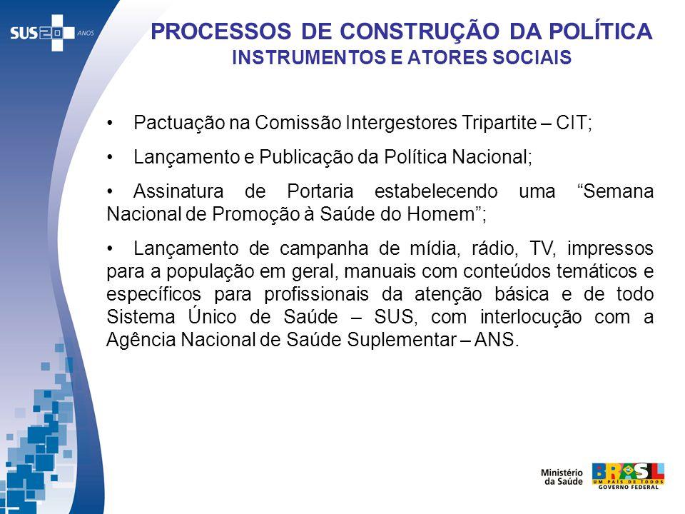 PROCESSOS DE CONSTRUÇÃO DA POLÍTICA INSTRUMENTOS E ATORES SOCIAIS