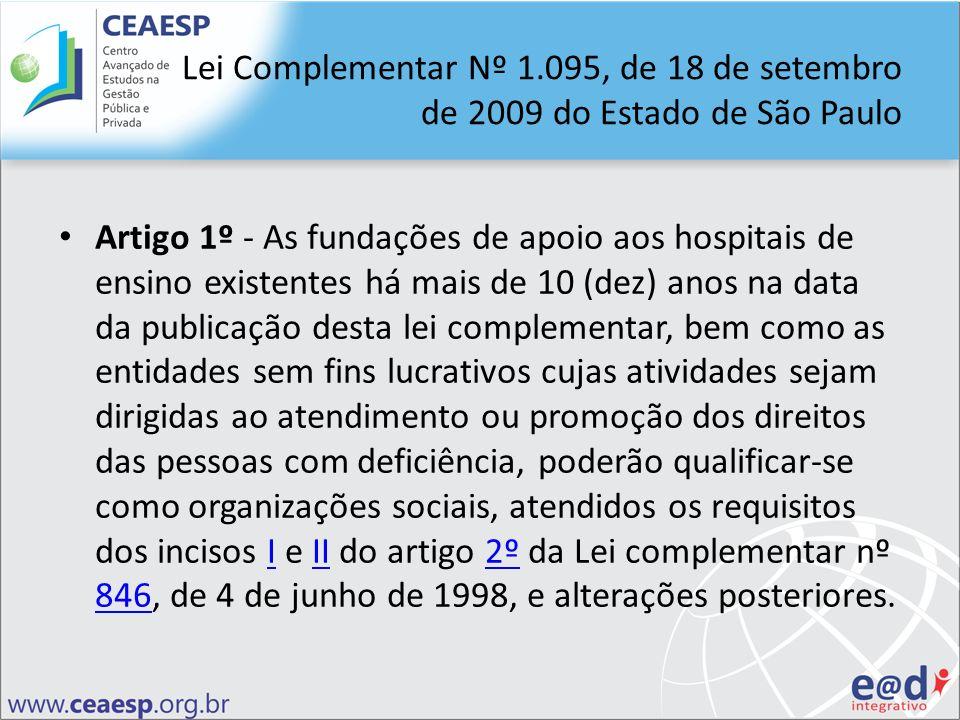 Lei Complementar Nº 1.095, de 18 de setembro de 2009 do Estado de São Paulo