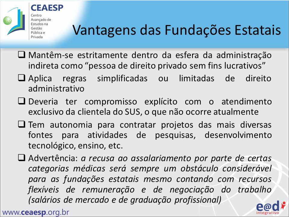 Vantagens das Fundações Estatais