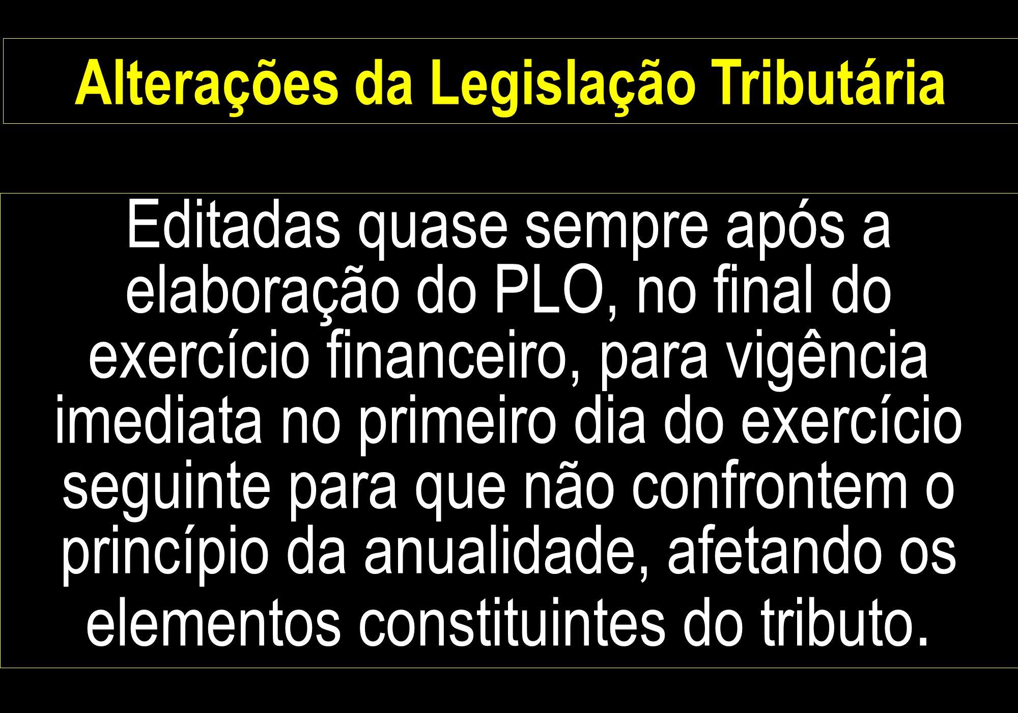 Alterações da Legislação Tributária