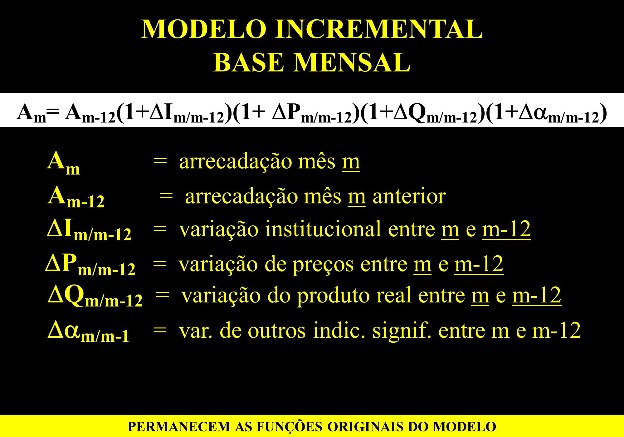 MODELO INCREMENTAL BASE MENSAL