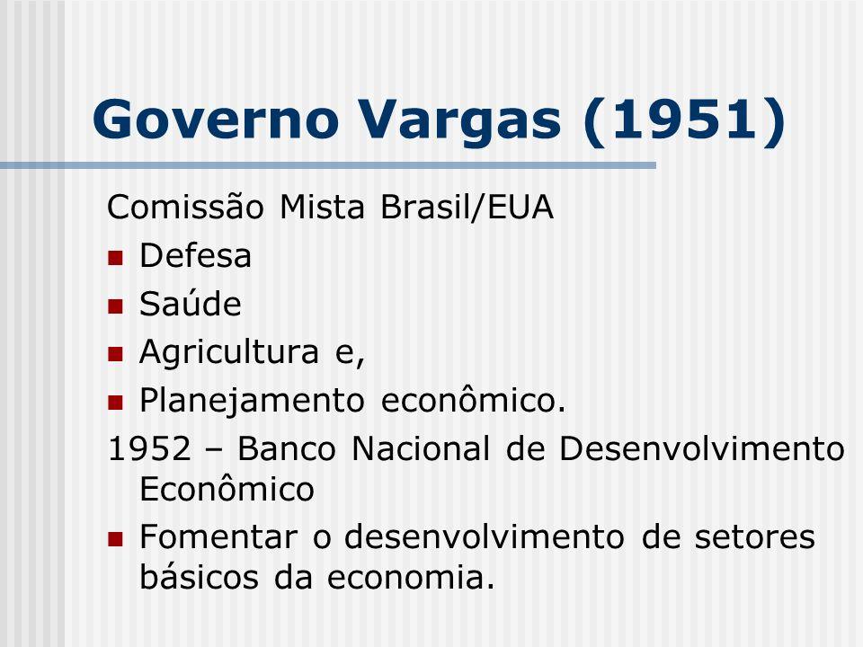 Governo Vargas (1951) Comissão Mista Brasil/EUA Defesa Saúde