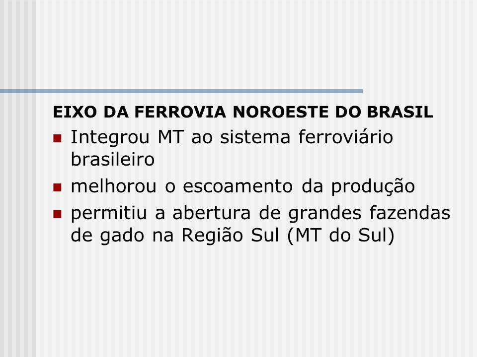 Integrou MT ao sistema ferroviário brasileiro