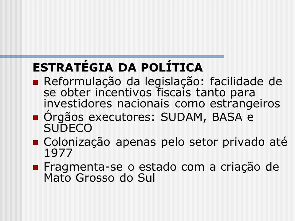 ESTRATÉGIA DA POLÍTICA