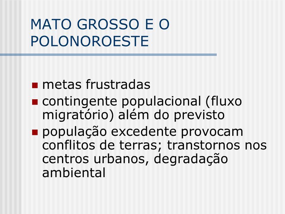 MATO GROSSO E O POLONOROESTE