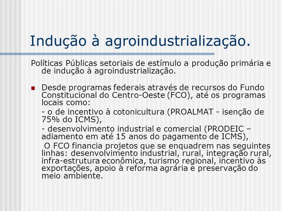 Indução à agroindustrialização.