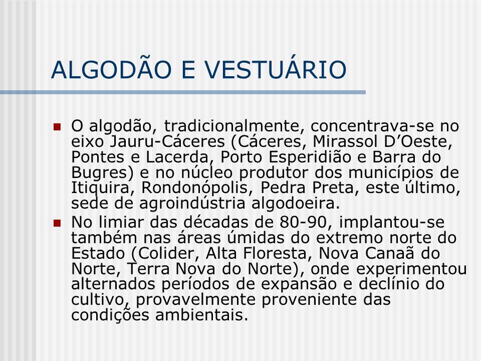 ALGODÃO E VESTUÁRIO