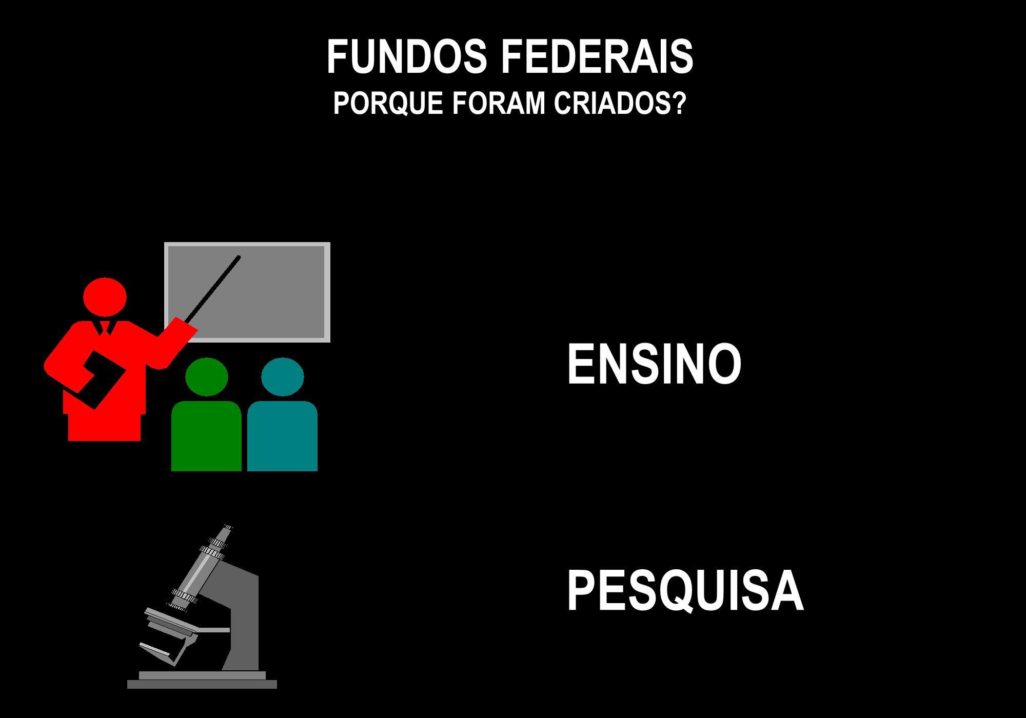 FUNDOS FEDERAIS PORQUE FORAM CRIADOS