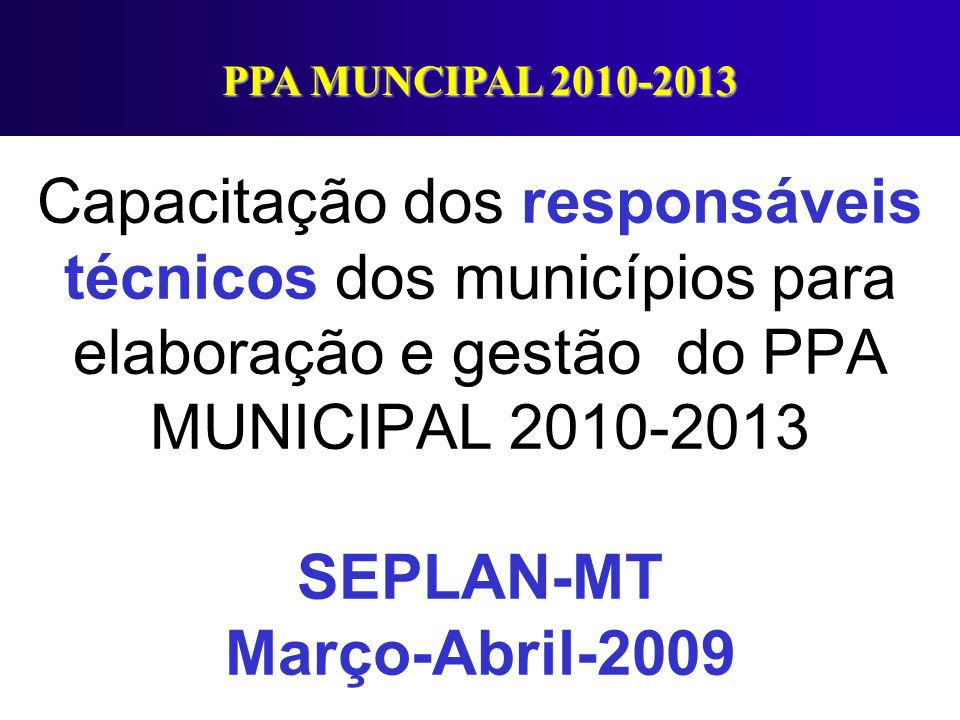 PPA MUNCIPAL 2010-2013