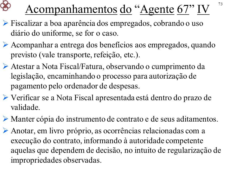 Acompanhamentos do Agente 67 IV