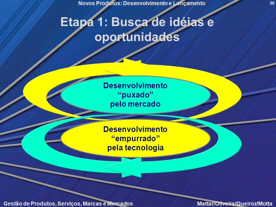 Etapa 1: Busca de idéias e oportunidades