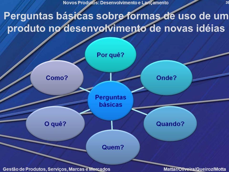 Perguntas básicas sobre formas de uso de um produto no desenvolvimento de novas idéias