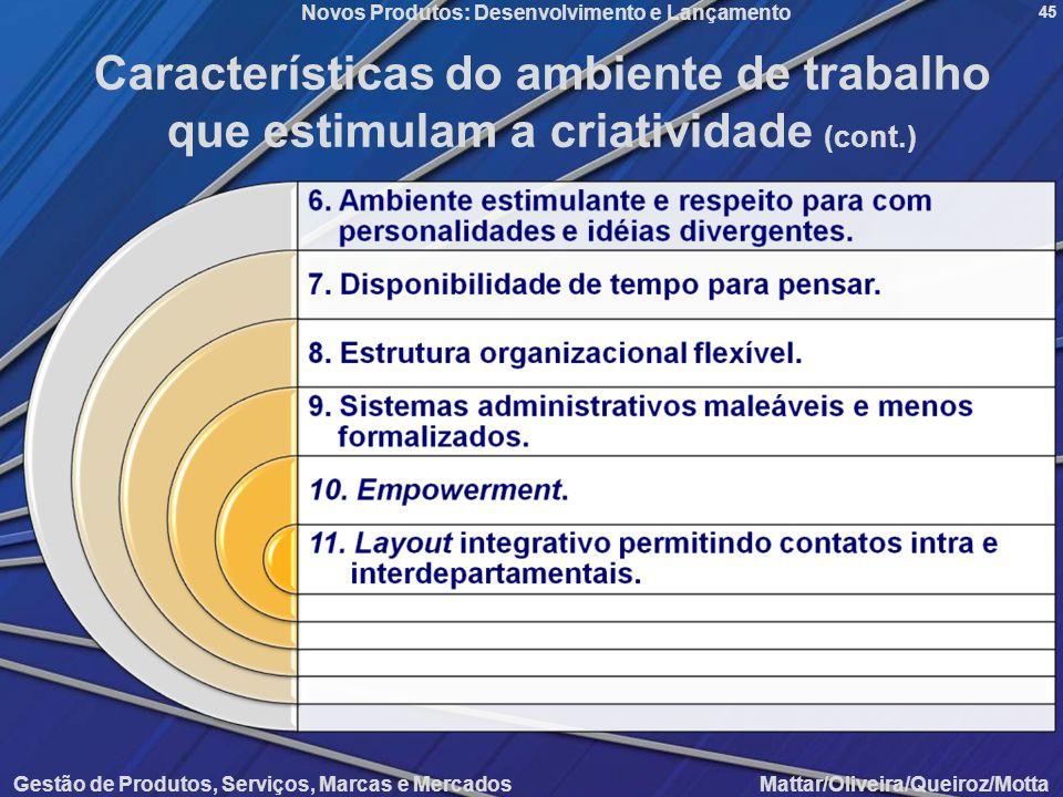Características do ambiente de trabalho