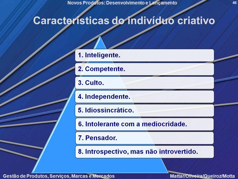 Características do indivíduo criativo