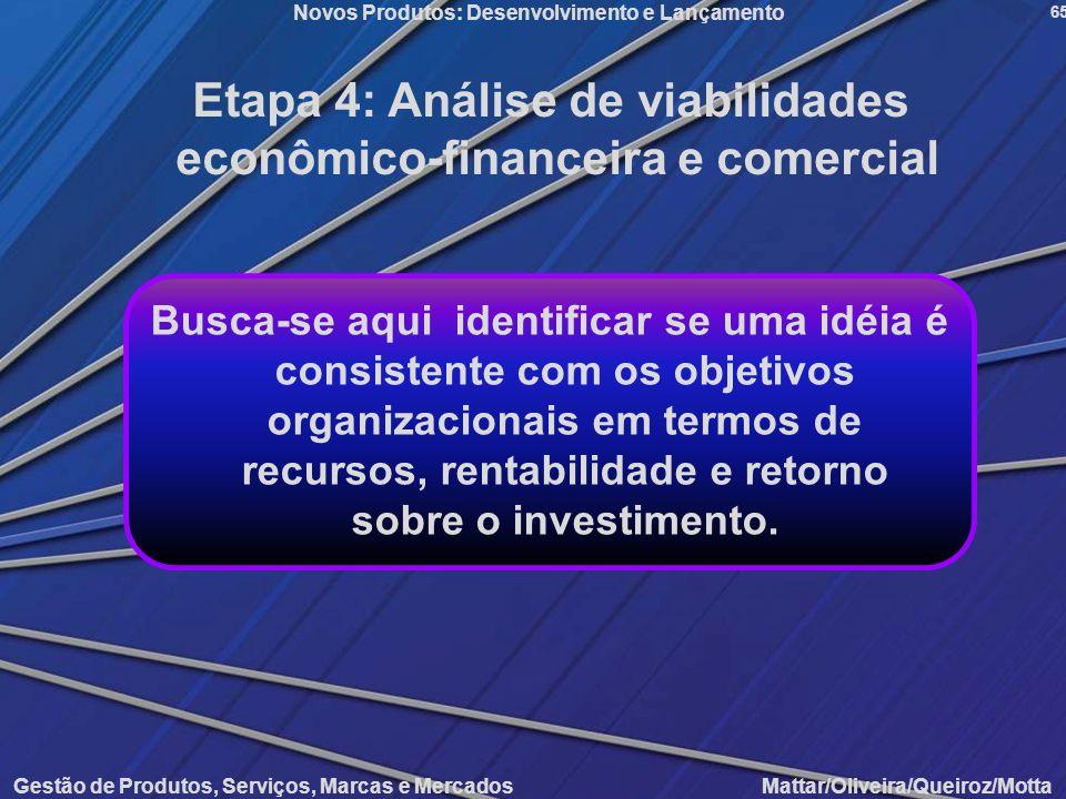 Etapa 4: Análise de viabilidades econômico-financeira e comercial