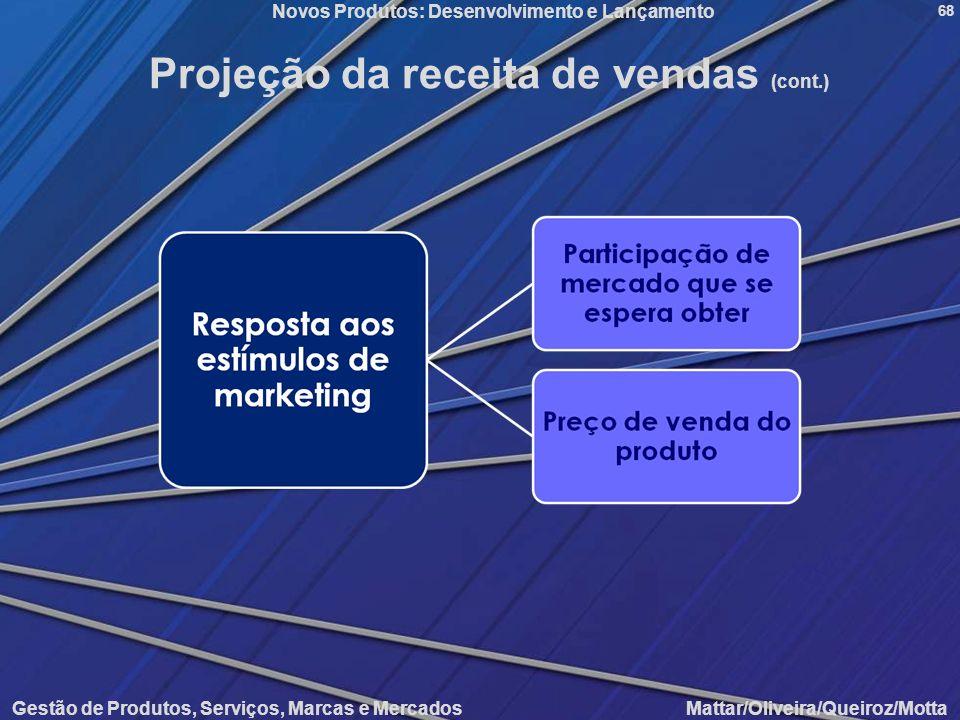Projeção da receita de vendas (cont.)