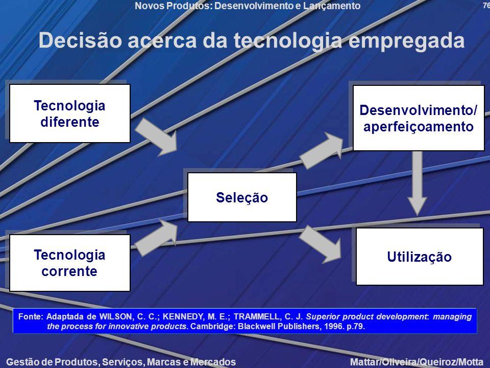 Decisão acerca da tecnologia empregada