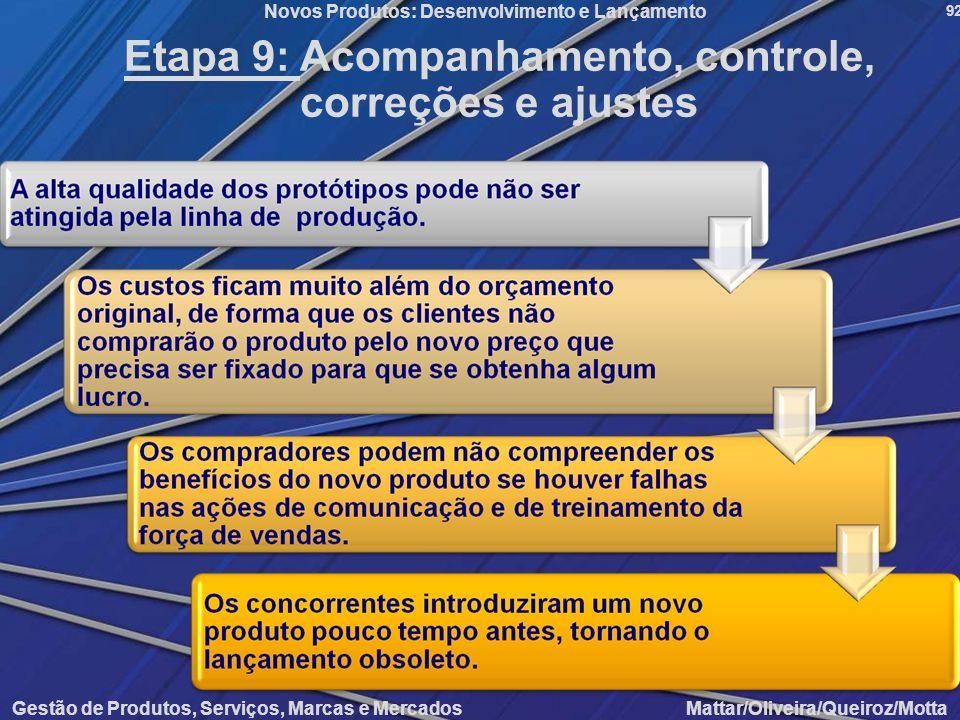 Etapa 9: Acompanhamento, controle, correções e ajustes