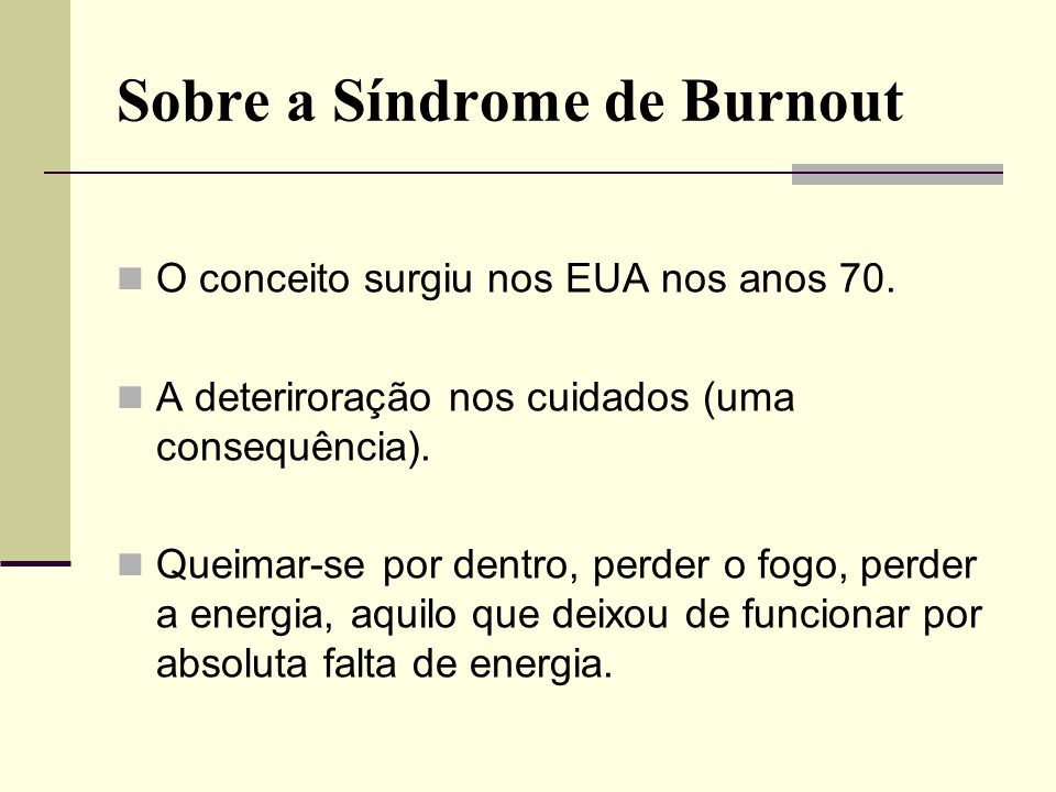 Sobre a Síndrome de Burnout
