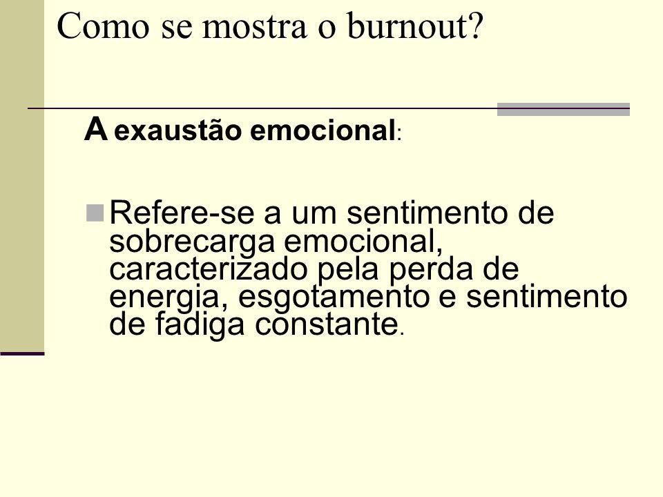 Como se mostra o burnout