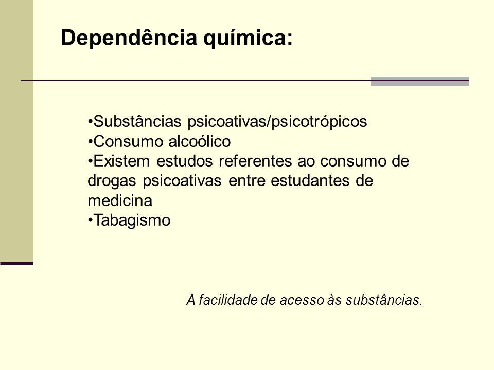 Dependência química: Substâncias psicoativas/psicotrópicos