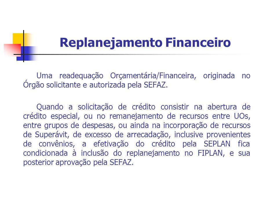 Replanejamento Financeiro