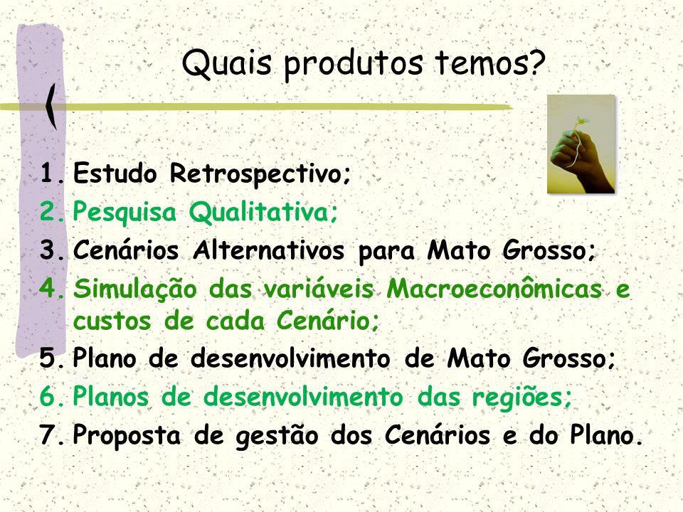 Quais produtos temos Estudo Retrospectivo; Pesquisa Qualitativa;