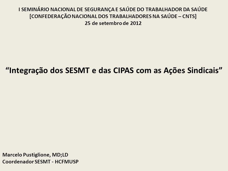 Integração dos SESMT e das CIPAS com as Ações Sindicais