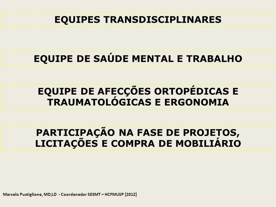 EQUIPES TRANSDISCIPLINARES