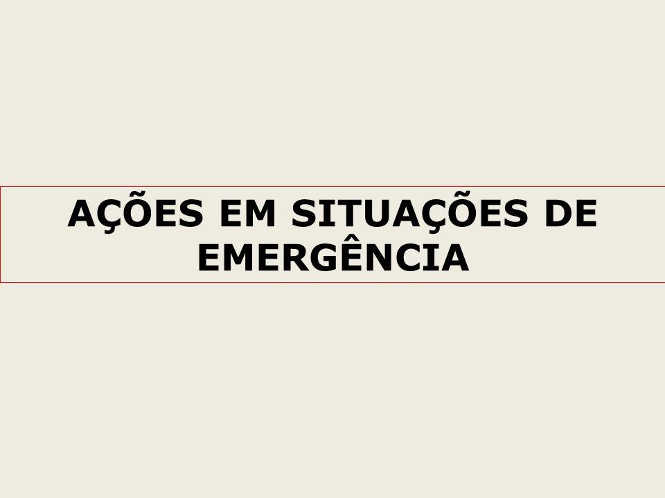 AÇÕES EM SITUAÇÕES DE EMERGÊNCIA