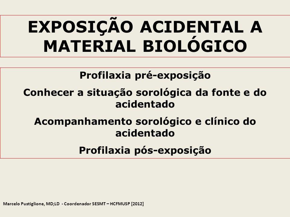 EXPOSIÇÃO ACIDENTAL A MATERIAL BIOLÓGICO