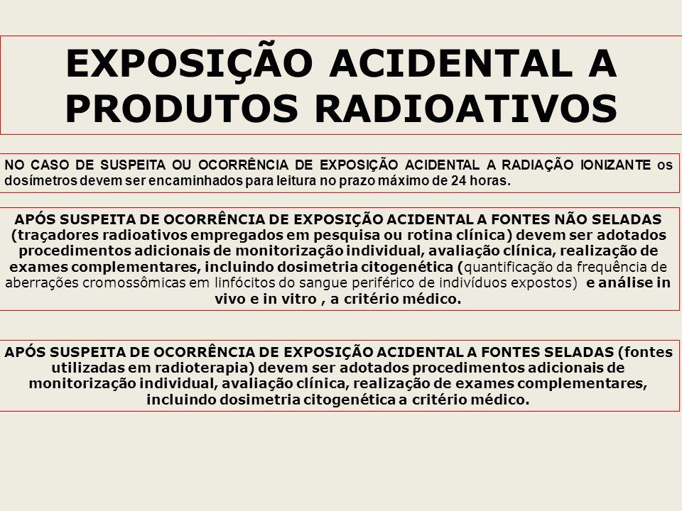 EXPOSIÇÃO ACIDENTAL A PRODUTOS RADIOATIVOS