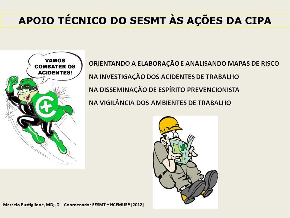 APOIO TÉCNICO DO SESMT ÀS AÇÕES DA CIPA
