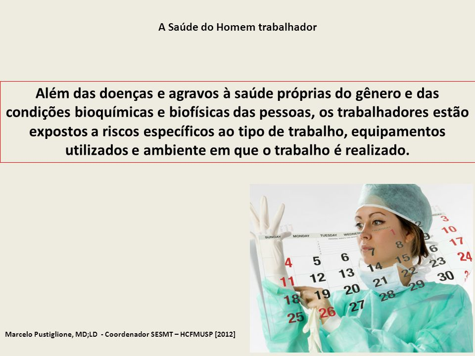 A Saúde do Homem trabalhador
