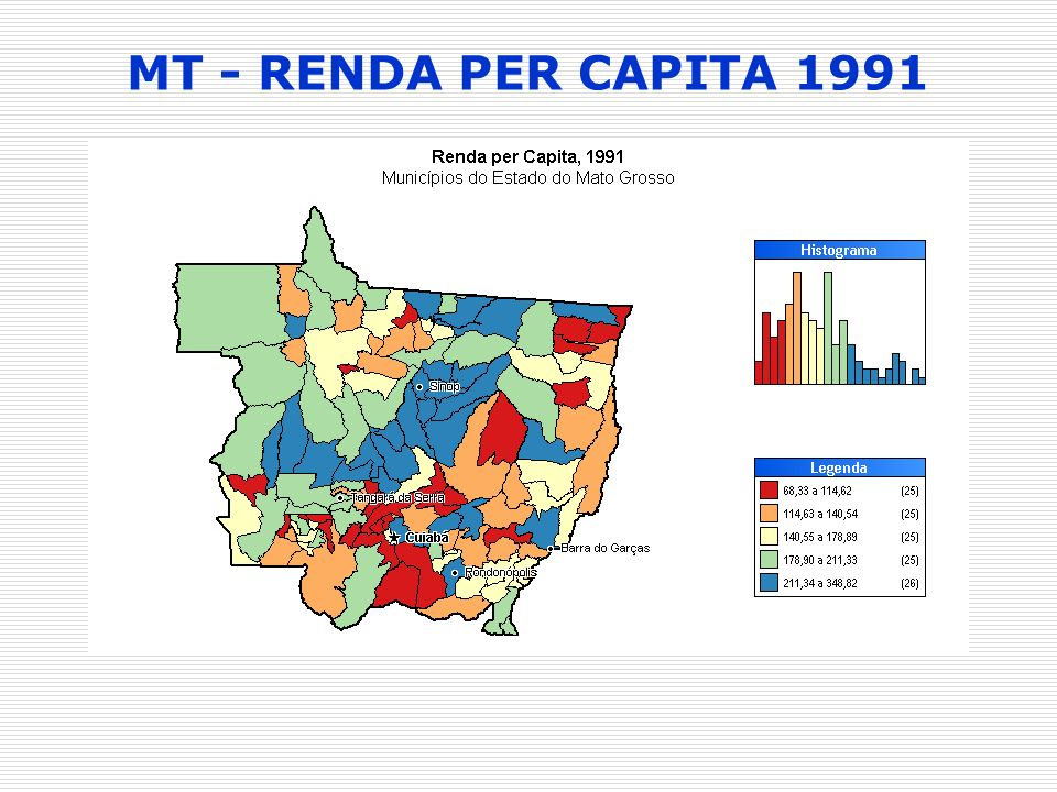 MT - RENDA PER CAPITA 1991