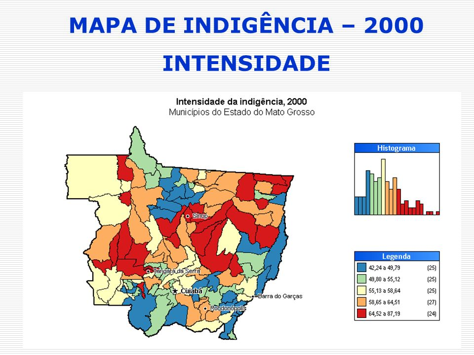MAPA DE INDIGÊNCIA – 2000 INTENSIDADE