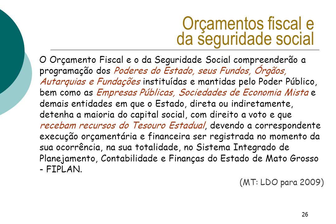 Orçamentos fiscal e da seguridade social