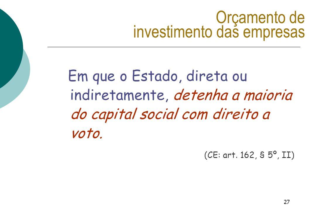 Orçamento de investimento das empresas