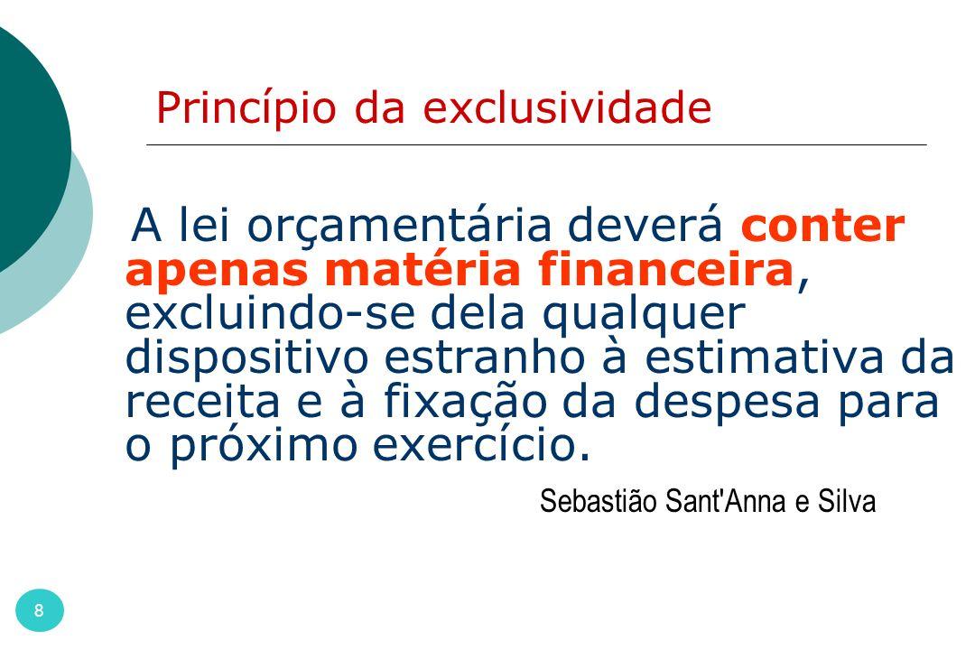 Princípio da exclusividade