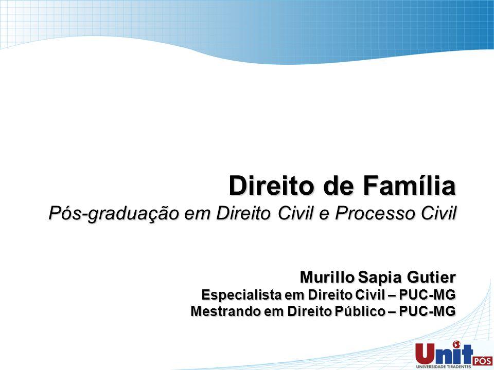 Direito de Família Pós-graduação em Direito Civil e Processo Civil
