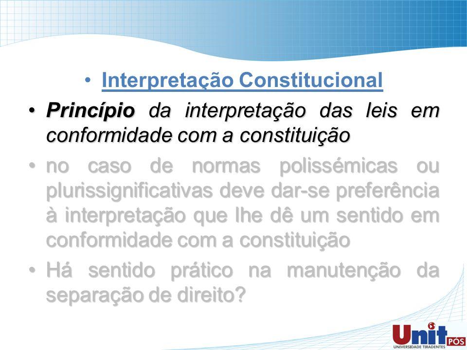 Interpretação Constitucional