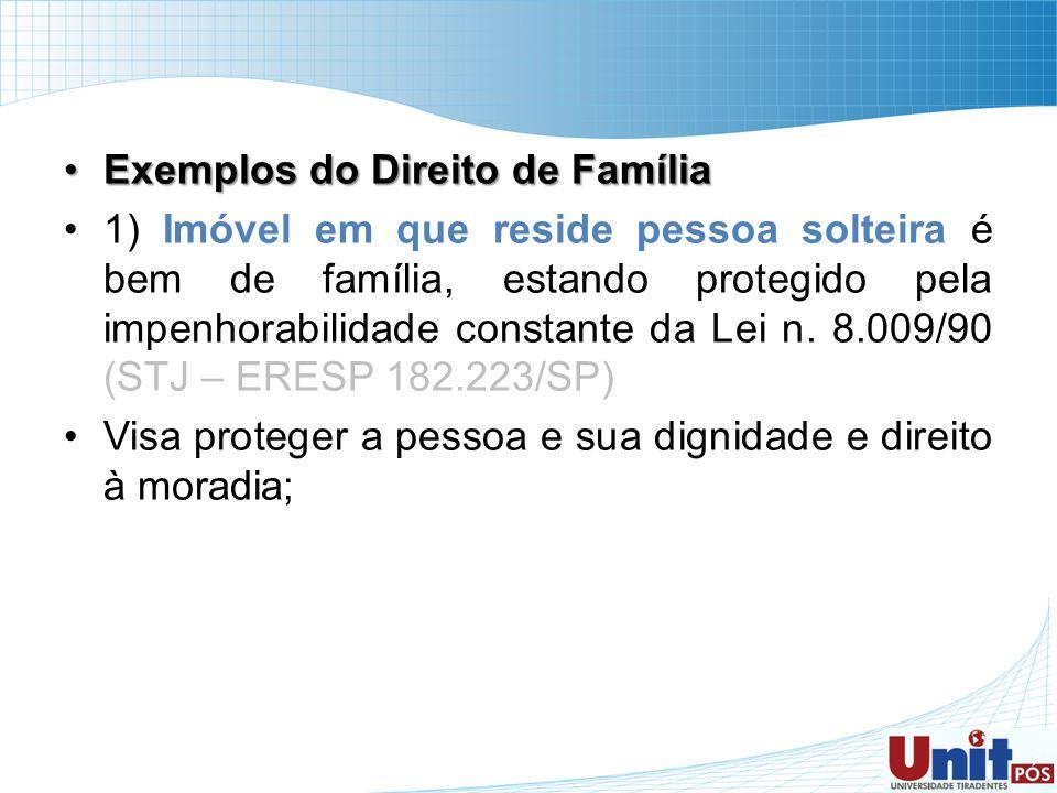 Exemplos do Direito de Família